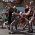Venezuela people dance on the roads to eradicate coorona