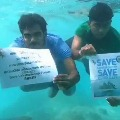 Lakshadweep Protests At Homes On Beaches and Under Sea