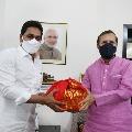 CM Jagan met Prakash Jawadekar and Gajendra Singh Shekawat