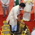 Stone laying ceremony for Lord Venkateshwara Temple in Jammu Kashmir