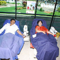 Chiranjeevi family Donated blood on blooddonationday
