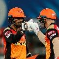 Sun Risers Hyderabad beat Delhi Capitals
