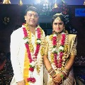 Dil Raju and wife visited Tirumala first time after wedding