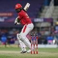 Angry Gayle throws his bat after he missed ton by a single run
