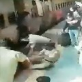 Two Railway Protection Force personnel and a civilian rescue a woman at the Thane Railway Station