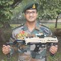 First machine pistol in India