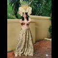 Actress Adah Sharma displays her Silmbam skills at a photo shoot