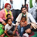 Lokesh visits expired TDP worker family members