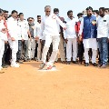 Harish Rao inaugurates CM KCR Cup Football tourney in Gajwel
