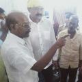 Bode Prasad and Rajendra Prasad Dharna at Vuyyuru police station