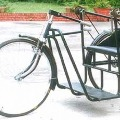 Man travelling to UP from Rajamahendravaram by tricycle