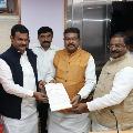 AP BJP delegation met Union Minister Dharmendra Pradhan and JP Nadda