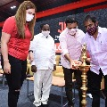 KTR and Srinivas Goud inaugurates Gutta Jwala academy in Moinabad