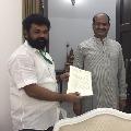YCP MP Nandigam Suresh complains to Lok Sabha Speaker Om Birla on Ragjurama Krishna Raju