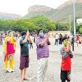 Piligrims Heavy Queue for Balaji Darshan