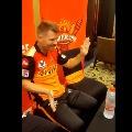 David Warner enjoys Tollywood hit song