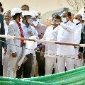 CM KCR visits new secretariat construction site