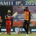 Sunrisers Hyderabad bowlers restricts RCB batsmen successfully