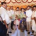 AP CM Jagan attends YCP MLA Karanam Dharmasri daughter marriage