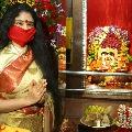 Sanchaita visits vizianagaram pyditalli ammavaru temple