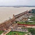 Officials close 33 gates of tungabhadra dam