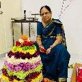 CM KCR wife Sobha helps a family