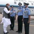 Rajnath Singh reaches Hyderabad