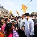 Nara Lokesh visits flood hit East Godavari district