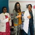 Upasana takes corona vaccine shot to put an end for fears
