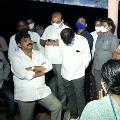 Perni Nani visits flood affected areas in Krishna river villages