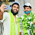 Sharwanand planted saplings in GHMC Park