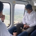 KTR and Ministers of Telangana Ariel Survey in Flood Areas