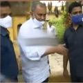 SEC Nimmagadda arrives his house in Duggirala