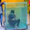 Chennai Youth Solved 6 Rubiks in Underwater Video
