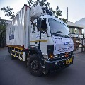 Trucks with covid vaccine out from Pune serum institute