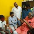 Karnataka education minister Suresh Kumar meets a boy who tried to suicide