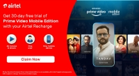 Amazon and Airtel in Exclusive Partnership to launch Amazon Prime Video Mobile Edition in India