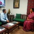 AP finance minister Buggana met union minister Nirmala Sitharaman