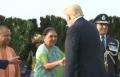 Donald Truimph visits Aagra