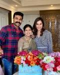 Konidela Surekha celebrates birthday along with Ramcharan and Upasana