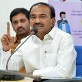 Eatala tells Centre appreciated Telangana over corona fight