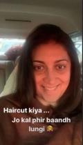 Union Minister Smriti Irani gets new hair cut