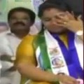 AP Minister Pushpasreevani cries on stage
