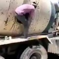 Police identified migrants in a cement mixer vehicle