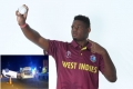 West Indies fast bowler Oshane Thomos ecapes road accident with minor injuries