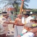 Police officers attend a marriage at Alipiri