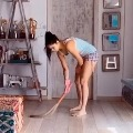 Katrina Kaif was cleaning the floor with a broom during quarantine